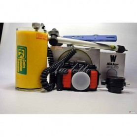 Nikon Nikonos-V  Nikkor 35 mm 1:2  Flash Starblitz 3100 Bt Custodia Flash  Staffa per custodia Borsa pronto Nikonos