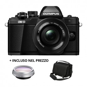 Olympus E-M10 Mark II - M.Zuiko Digital 14-42mm 1:3.5-5.5 RII (Black/Grey)