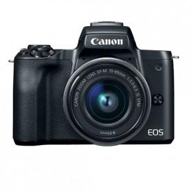 Canon Eos M50 ( Black / White)   + EF-M 15-45mm  IS STM ( Black) + Borsa Canon + Scheda da 16 GB