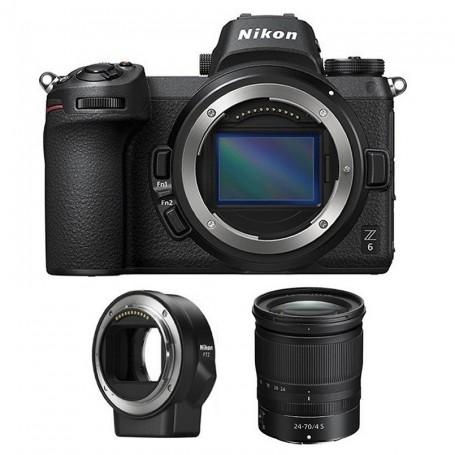 Nikon Z6 ( body) + NIKKOR Z 24-70 f/4 S + FTZ Mount Adapter