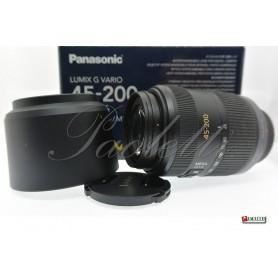 Panasonic Lumix G Vario 45-200 mm 1:4-5.6 Mega O.I.S. Usato